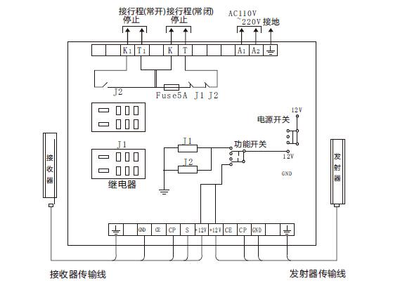 光电保护装置 qsn内置控制器接线图
